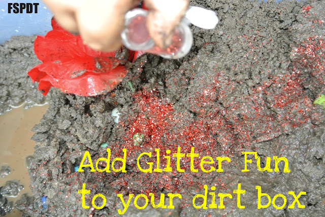 Dirt and/or Mud sensory box
