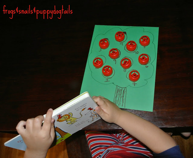 Ten Apples Up On Top- counting & number matching activity