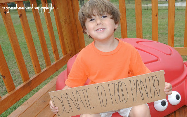 Kids Making A Difference- donate to your local food pantry