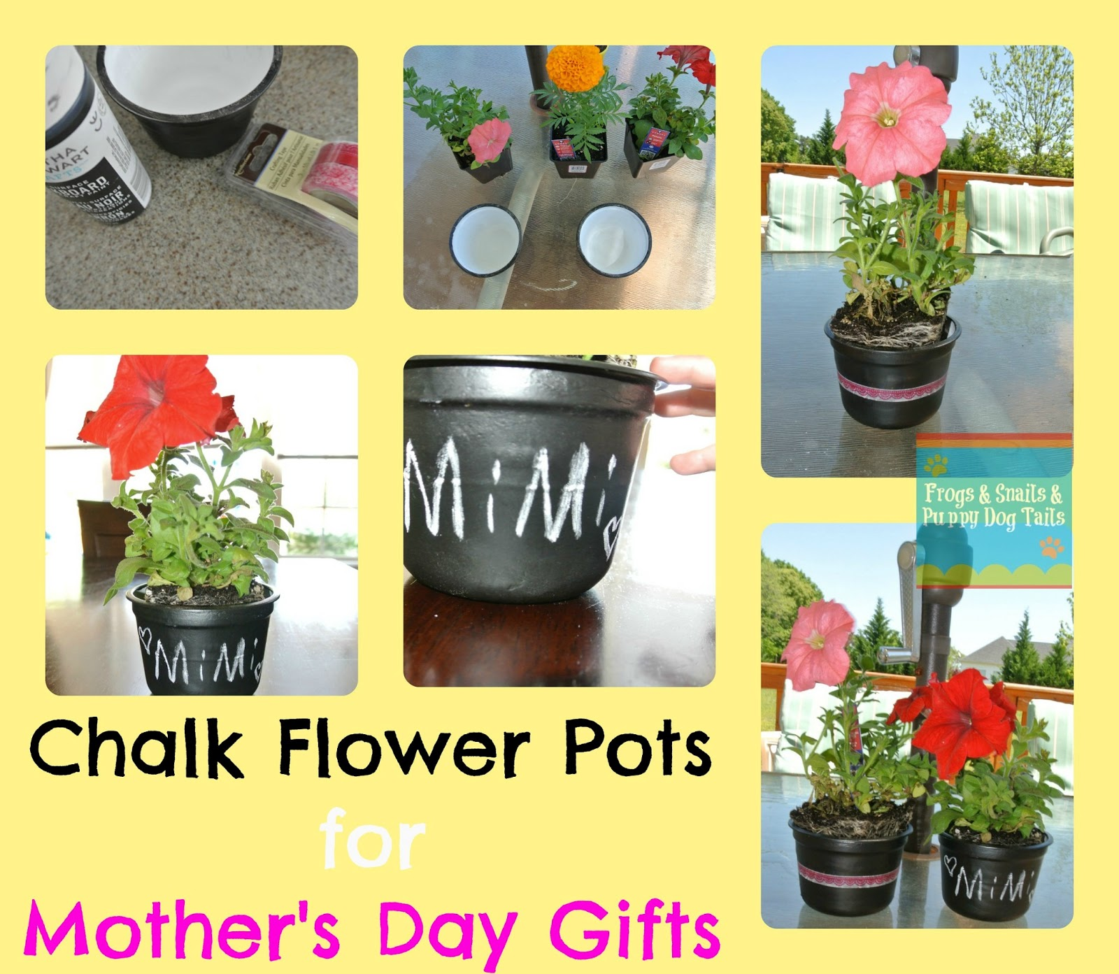 Recycled Chalk Flower Pots For Mother s Day Gifts. Recycled Chalk Flower Pots For Mother s Day Gifts   FSPDT