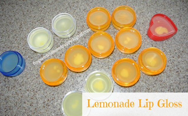 Lemonade Lip Gloss- the kids can make