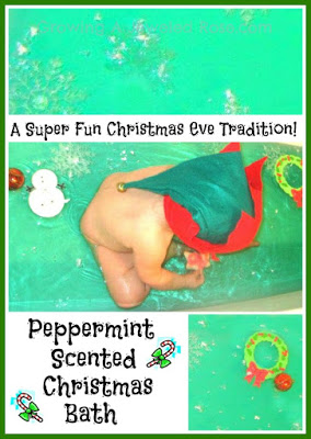 Christmas activities for kids- themed Christmas bath