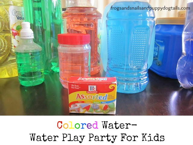 Colored Water- water play party for kids