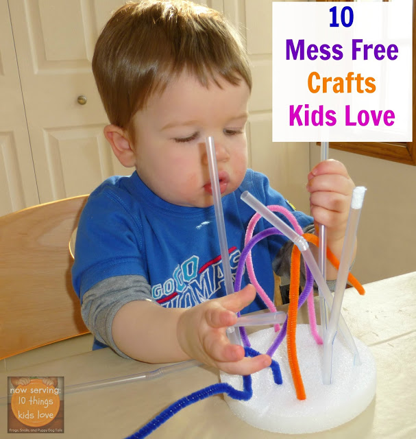10 Mess Free Crafts by Craftulate