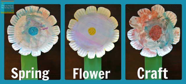 Watercolor Paper Plate Flower Craft & Watercolor Paper Plate Flower Craft - FSPDT