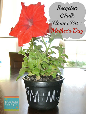 Recycled Chalk Flower Pots For Mother's Day Gifts