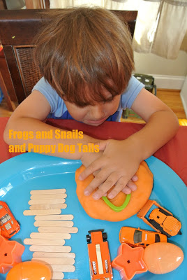 Orange Jello Playdough With Cars and more