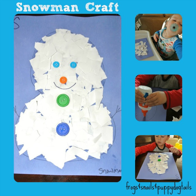 Letter S: snowman craft & coloring sheets