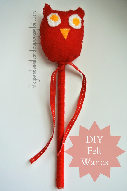 DIY Felt Wands for kids
