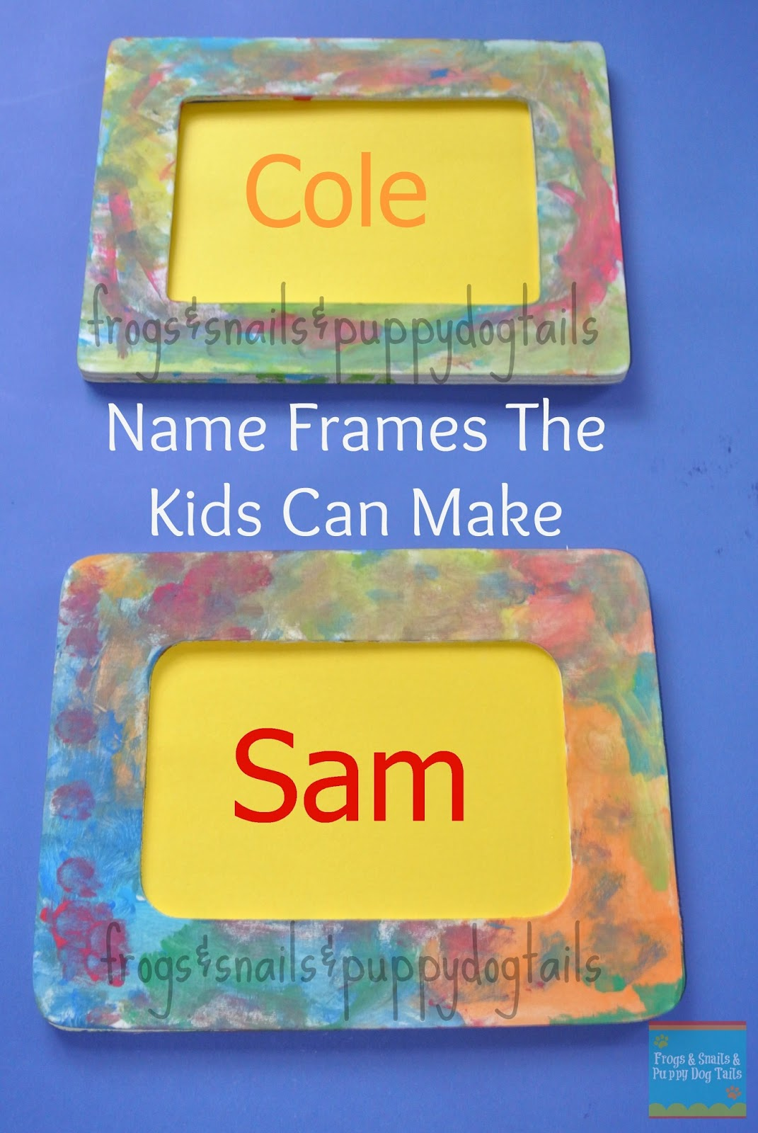 Name Frames- Fun To Make & {help kids learn their names} - FSPDT