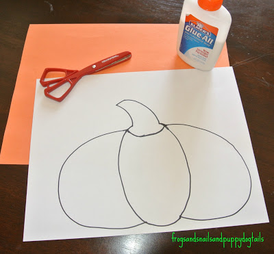 P is for Pumpkin( pumpkin poem, scissor skills, &color/work sheet)