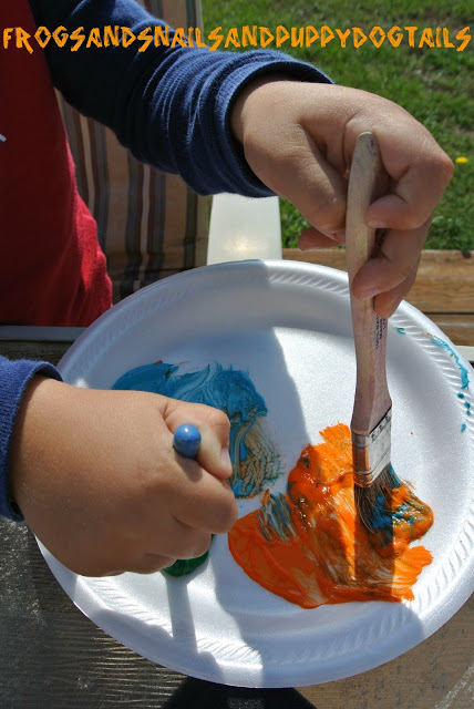 Painting with Apples {Print Making}