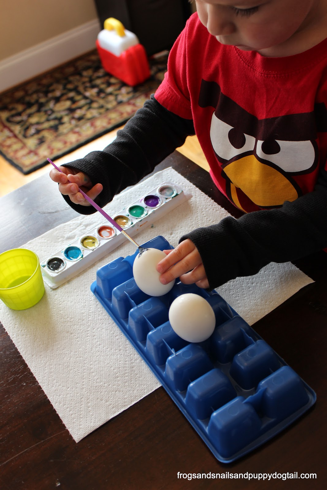 Decorate Eggs with Watercolors