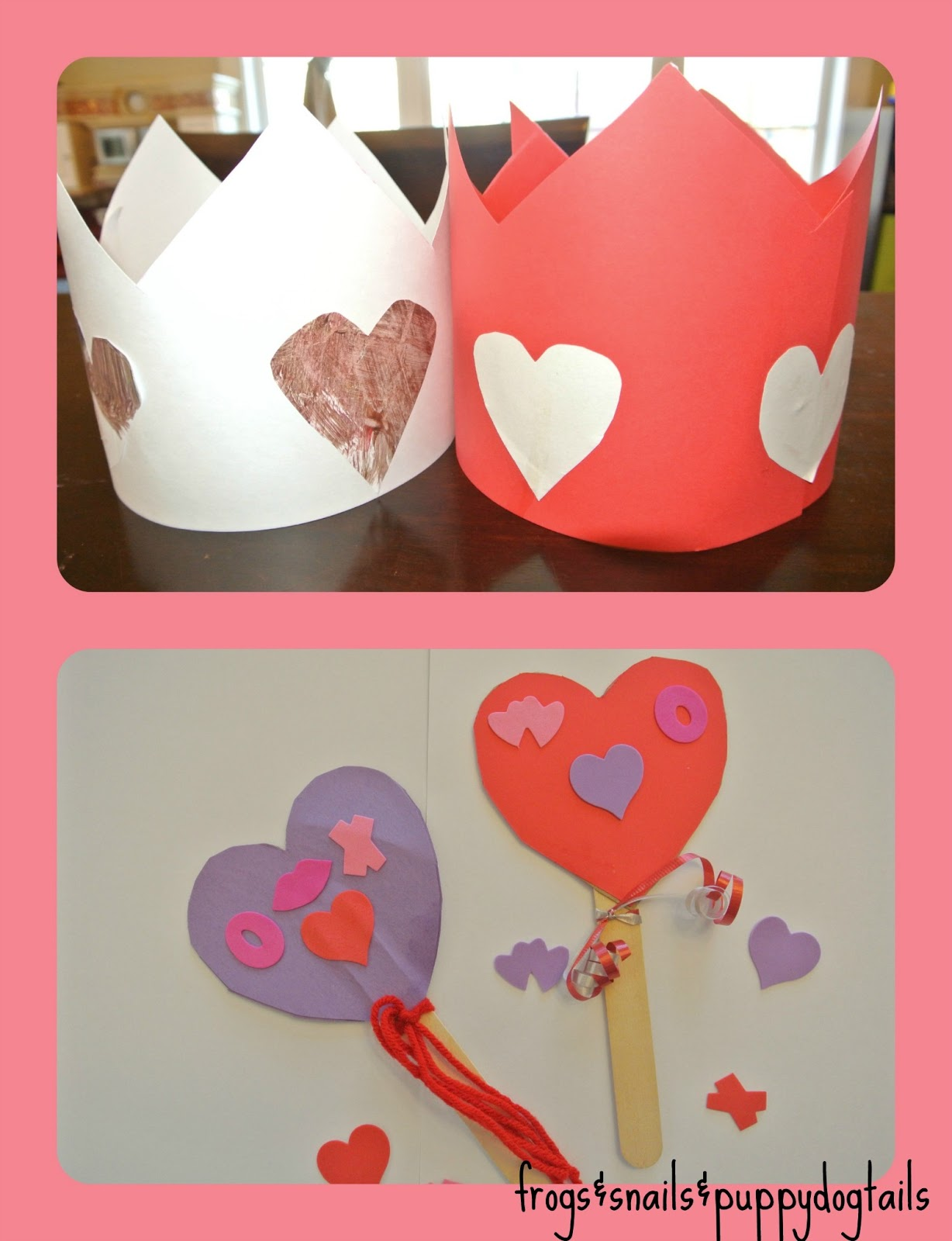Valentineu0027s Day Crowns And Wands  Great Photo Props For The Kids