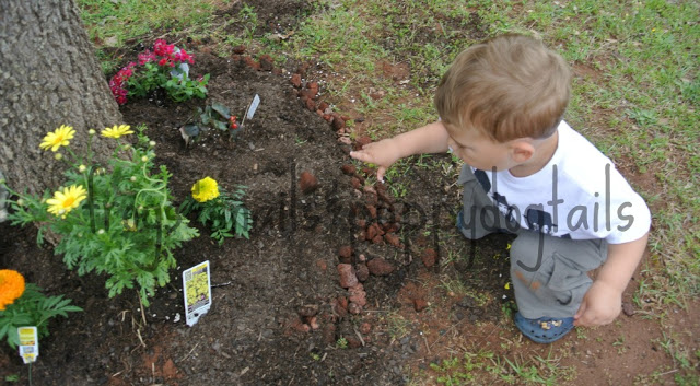 Gardening With Kids- planting flowers