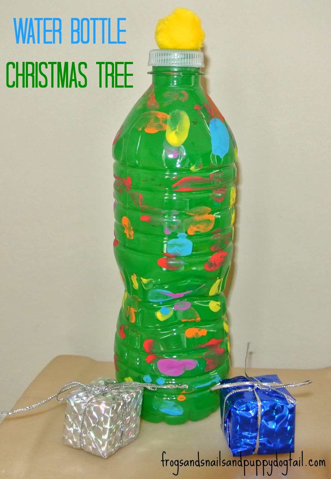 Water Bottle Christmas Trees- fun craft for the kids - FSPDT