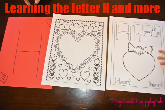 Learning color red and shape heart