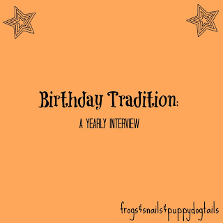 Birthday Traditions- family memories