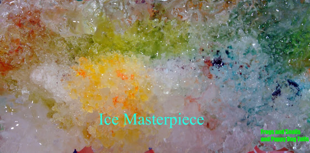 Ice Masterpiece- melting ice with kids