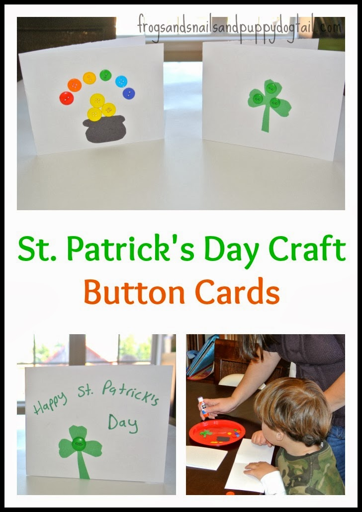 St. Patrick's Day Craft -Button Cards