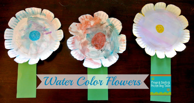 Watercolor Paper Plate Flower Craft