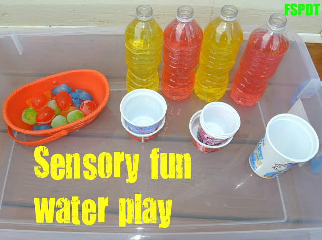 Sensory water party- great way to disguise learning