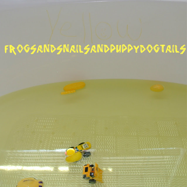 The color yellow bath theme
