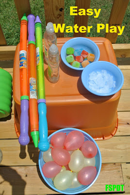 Ice cubes and water balloons