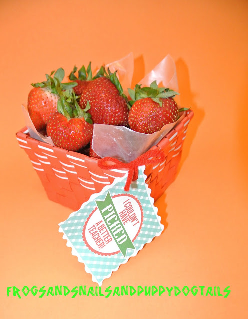 Teacher appreciation:  strawberry baskets