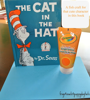 The Cat in The Hat by Dr. Seuss {a fish craft}