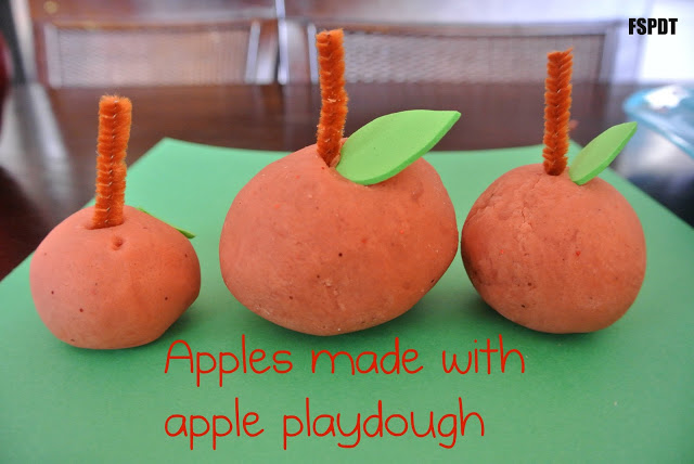 Apple Cinnamon Playdough & how to make apples out of it