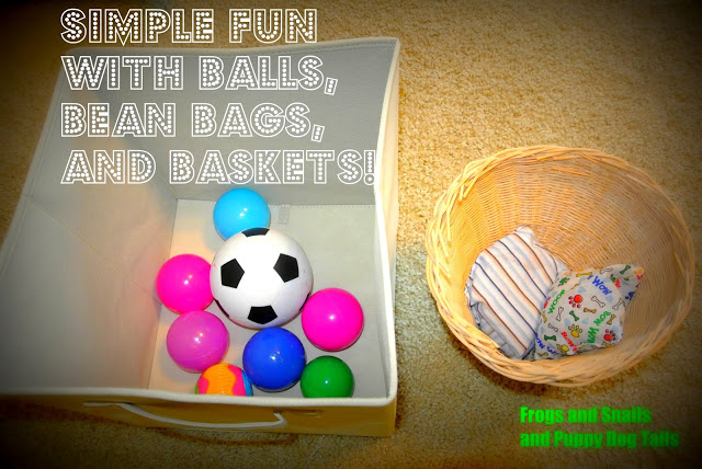 Balls, bean bags, and baskets oh my! gross motor