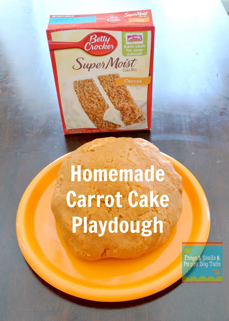 Carrot Cake Playdough To Go With The Run Away Bunny{ Dig Into Exploring Underground Animals}