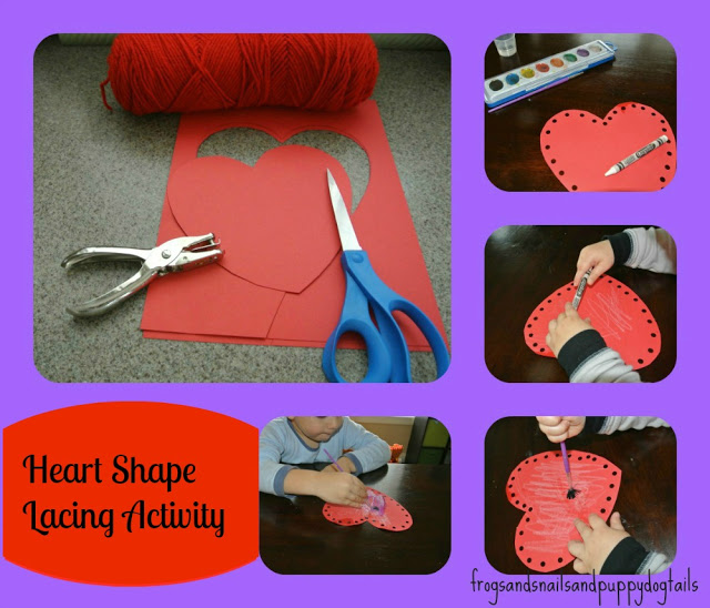 Heart Shape Lacing Activity and The Kid's Co-op