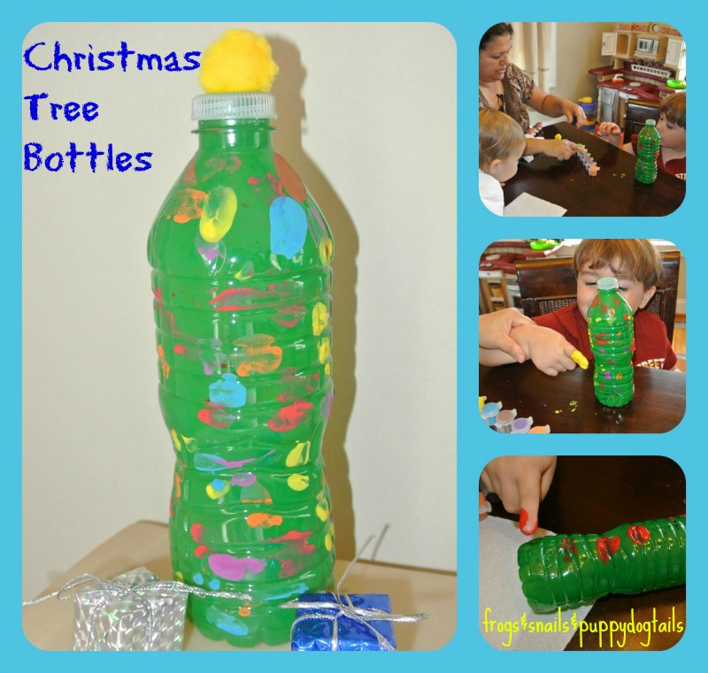 Water Bottle Christmas Trees- Fun Craft For The Kids