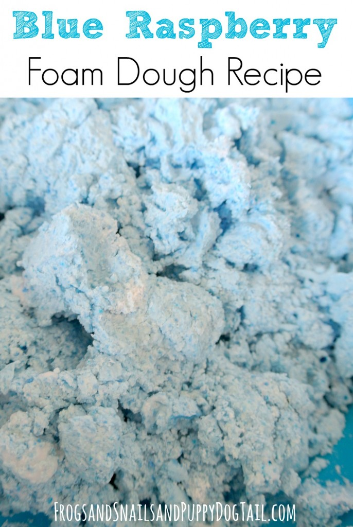 blue raspberry foam dough recipe