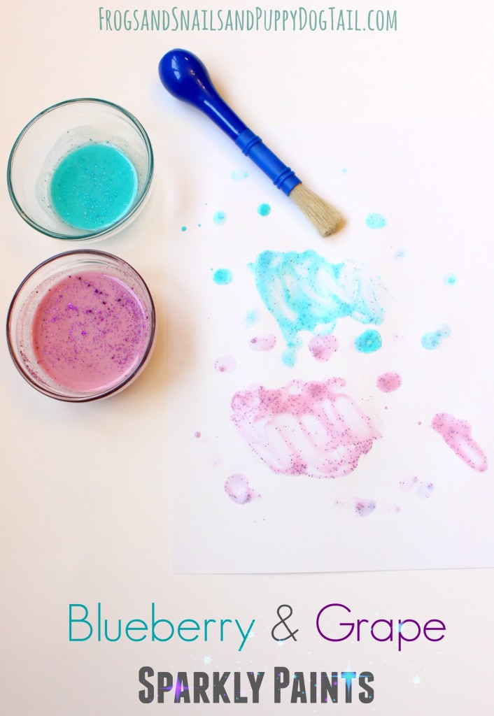 blueberry and grape sparkly paint