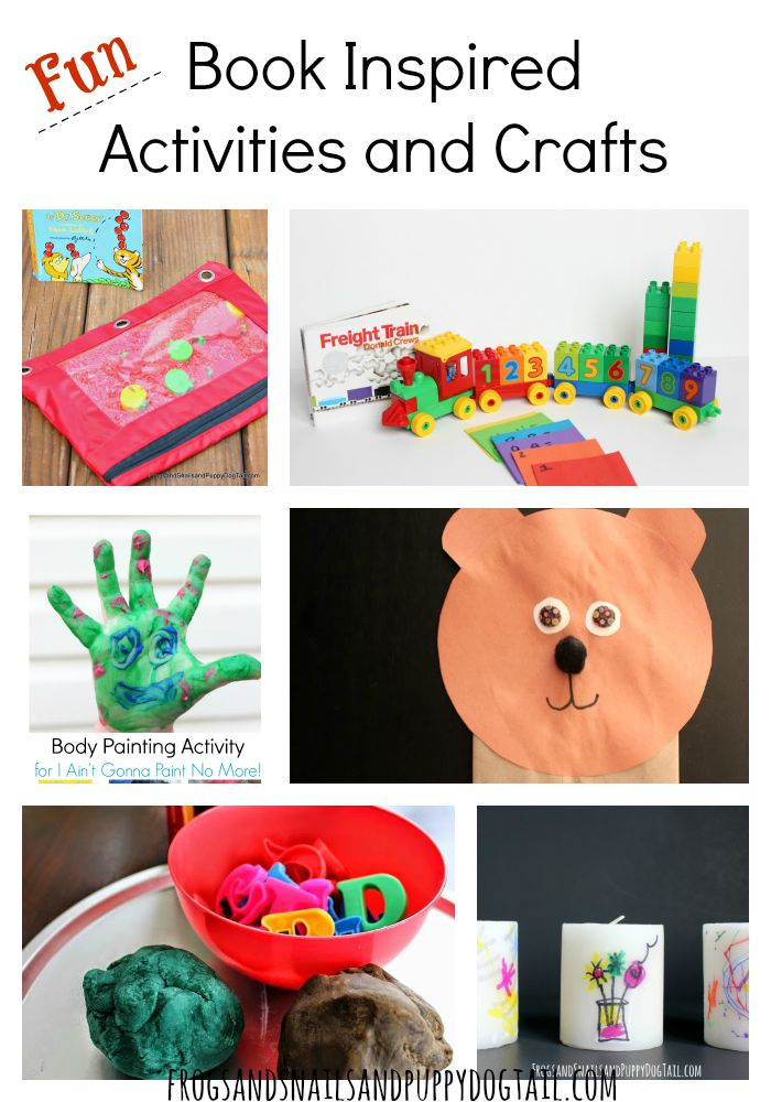 Fun Book Inspired Activities and Crafts for Kids