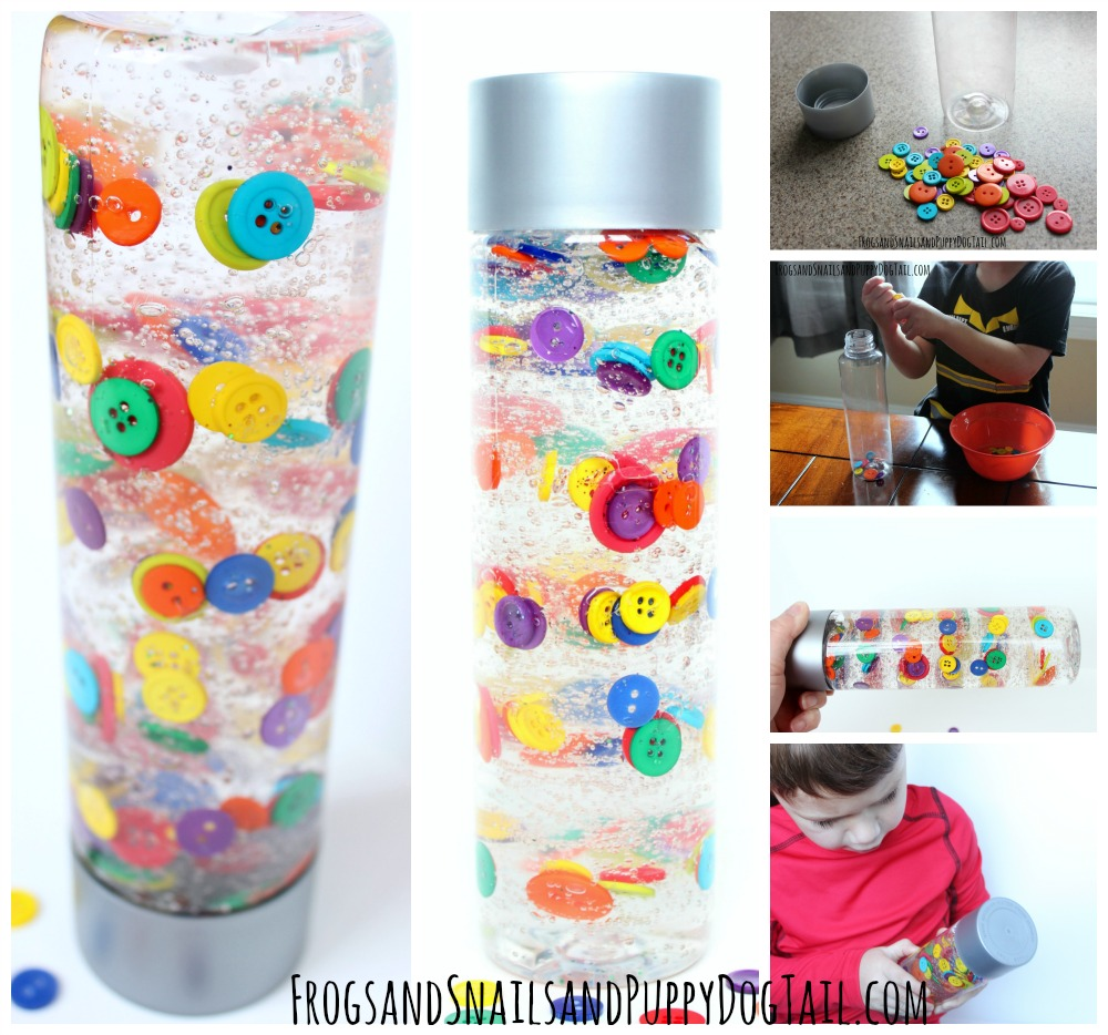 button sensory bottle for kids