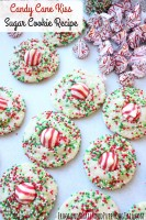 candy cane kiss sugar cookies recipe