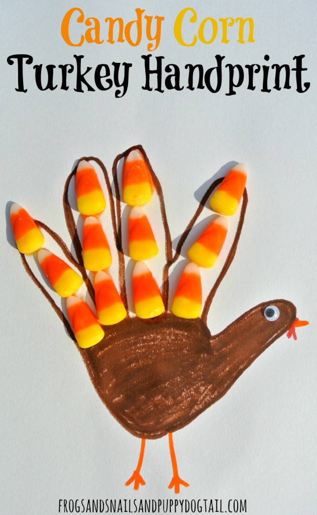 candy corn turkey handprint craft for kids