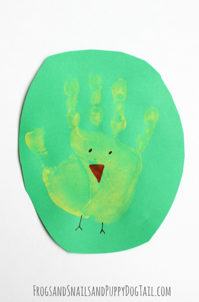 Chick handprint Art for kids