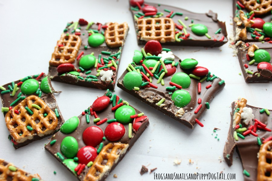 Christmas chocolate bark recipe