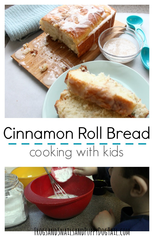 cinnamon roll bread cooking with kids