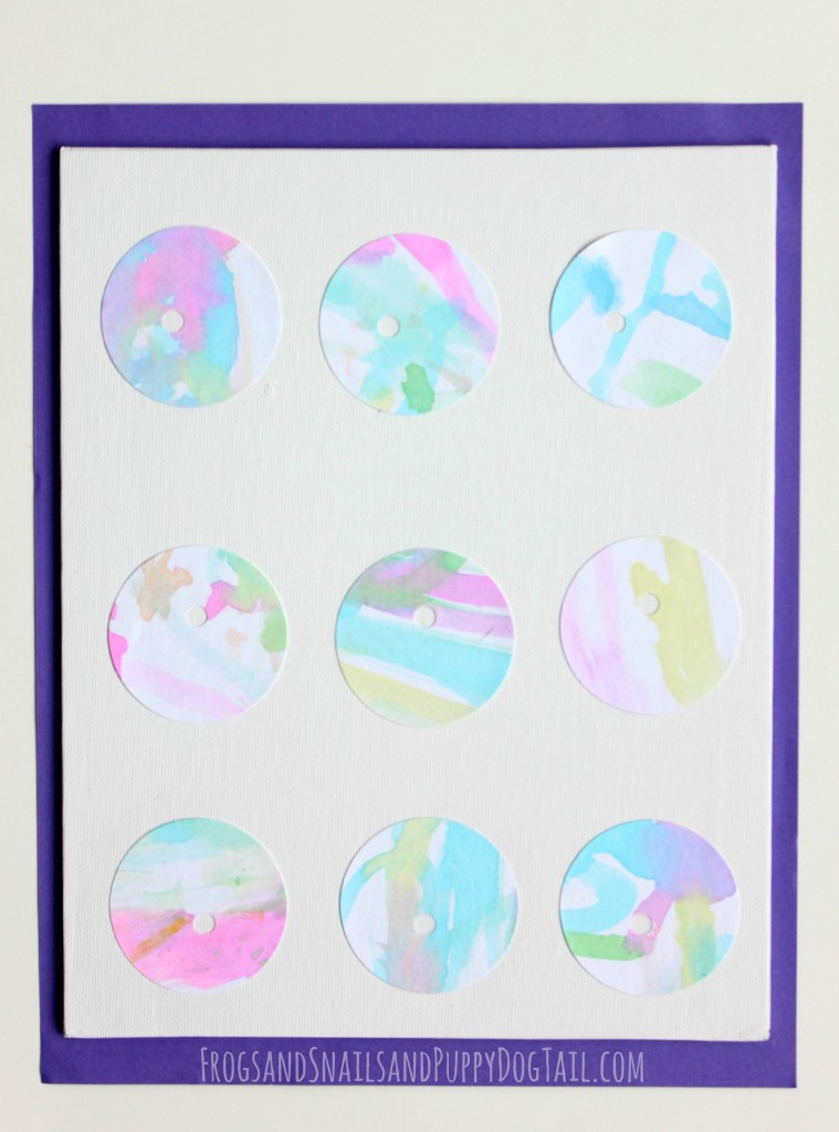 Circle and Hole Watercolor Art for Kids inspired by Beautiful Opps