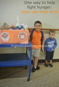 Mini Can Food Drive - To Help Teach Children To Give