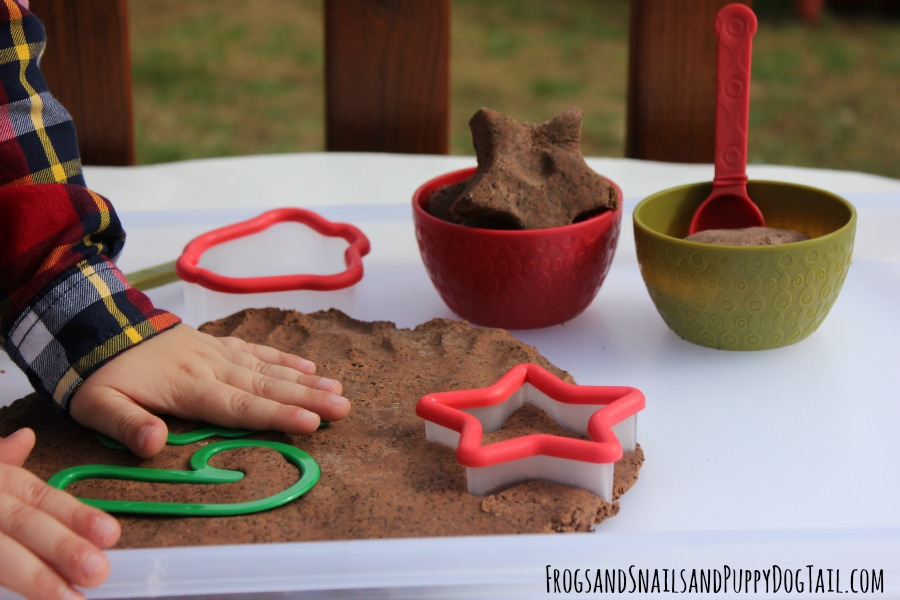 coffee playdough sensory play idea for kids
