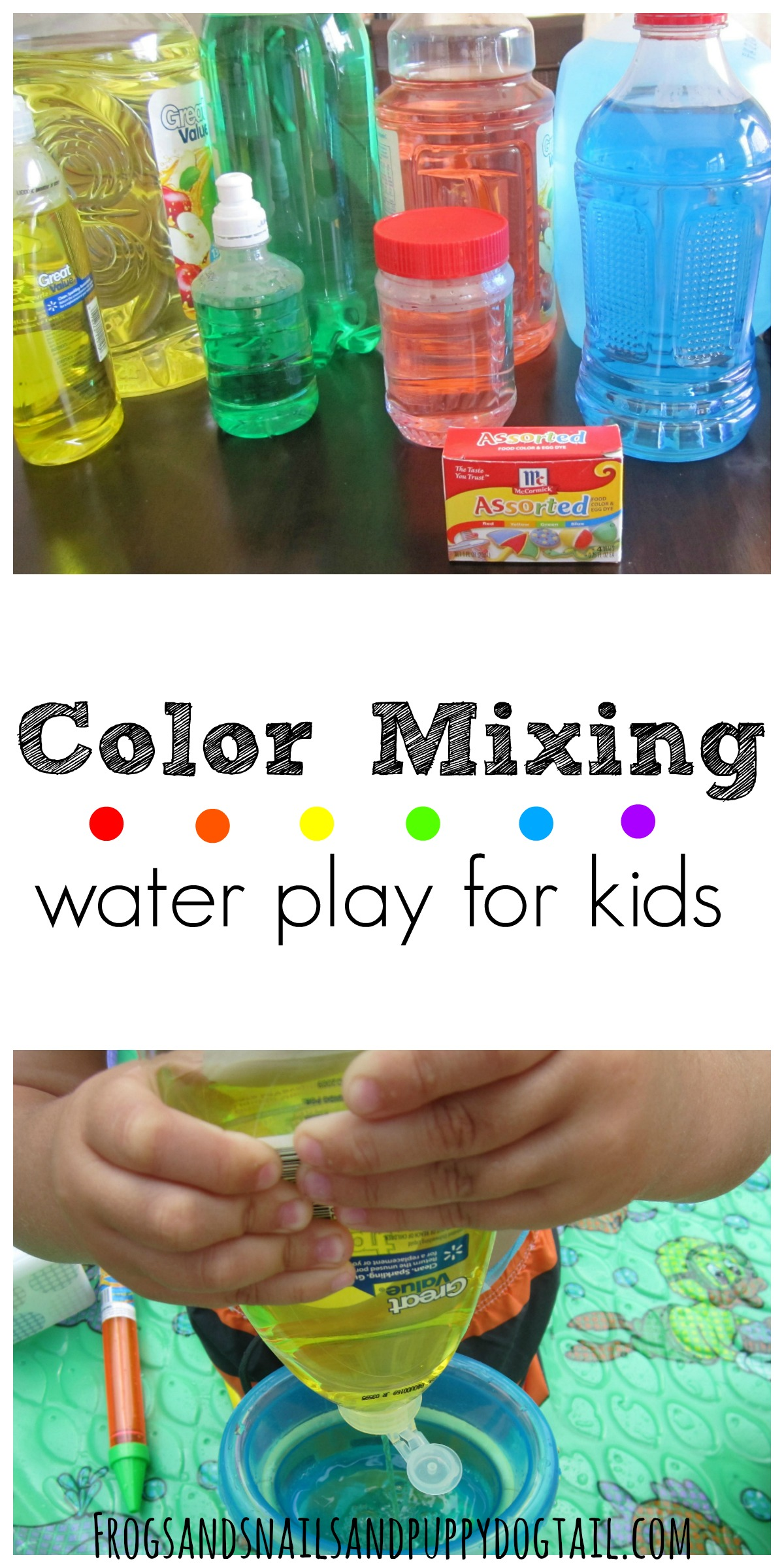 Colored Water Water Play Party For Kids Fspdt