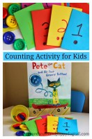 Pet the Cat counting activity for kids