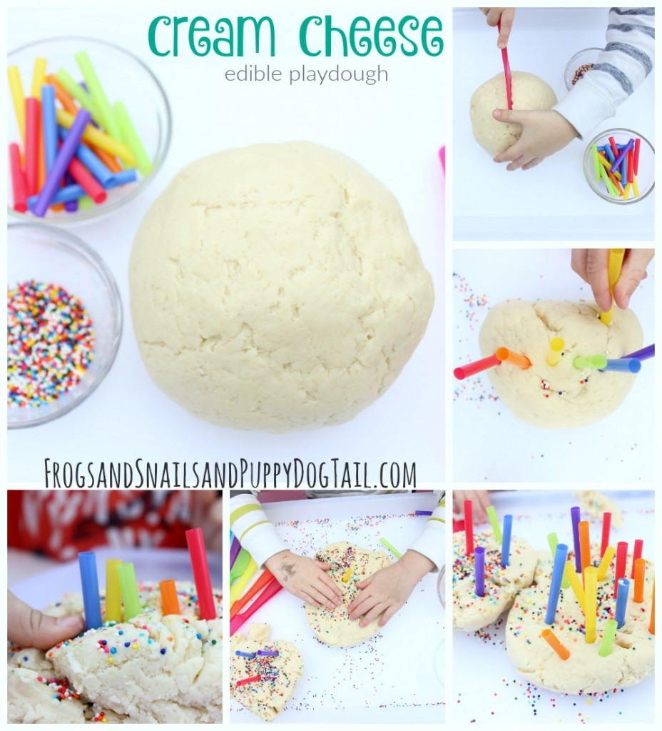 cream cheese edible playdough recipe